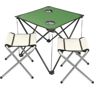綠野仙蹤輕量摺疊桌*1+輕巧四角凳*2