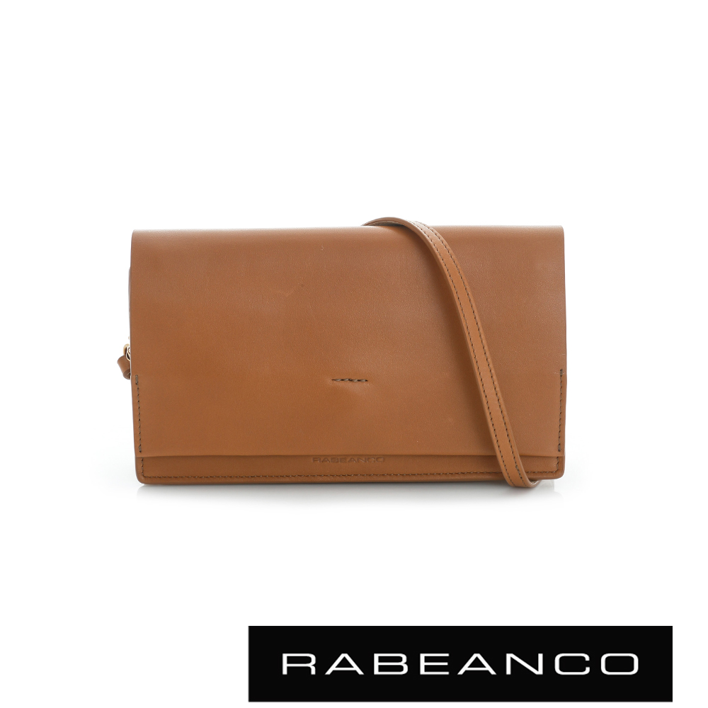 RABEANCO 迷時尚系列多夾層小方包 - 深駝