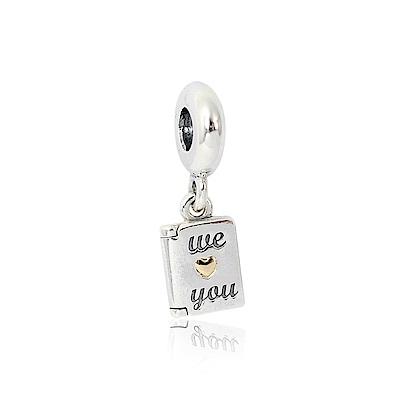 Pandora 潘朵拉 We Love You刻字造型 純銀墜飾 串珠
