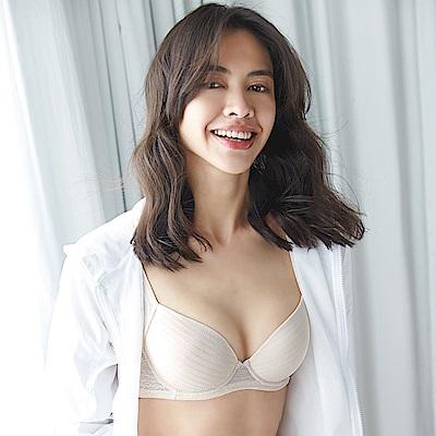 蕾黛絲-親膚好感挺素面 D-E罩杯內衣(香草膚)