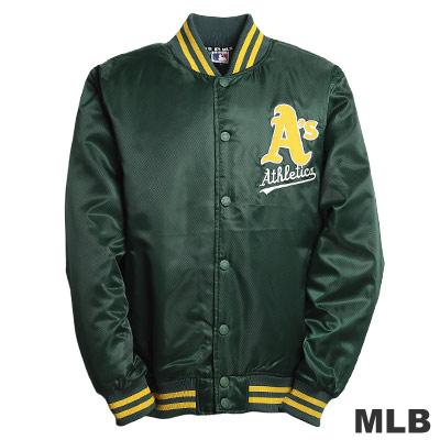 MLB-奧克蘭運動家隊鋪棉棒球外套-綠(男)