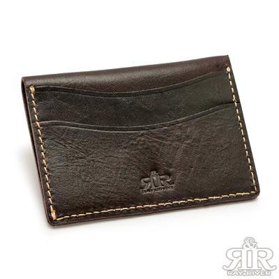 2R-頭層植鞣牛皮Craftsman手工橫版卡片夾