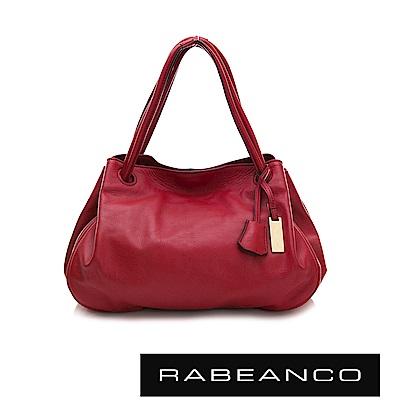 RABEANCO OL時尚粉領系列柔軟肩背包 石榴紅