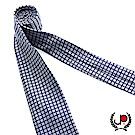極品西服 100%絲質義大利手工領帶_灰格紋(YT5066)