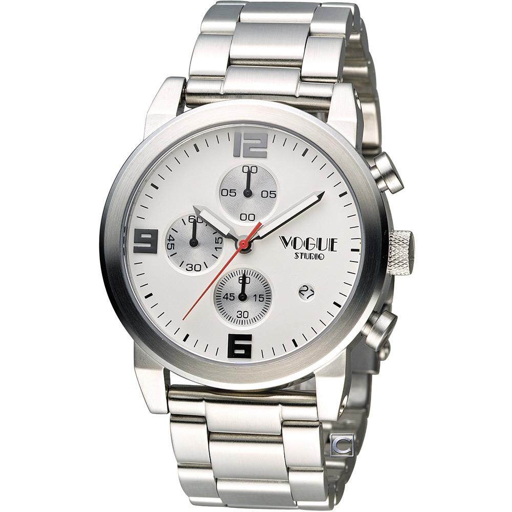 VOGUE 潮流戰警計時腕錶-灰色/42mm