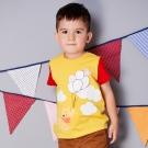 Disney baby 維尼系列飛行短袖上衣 芥黃