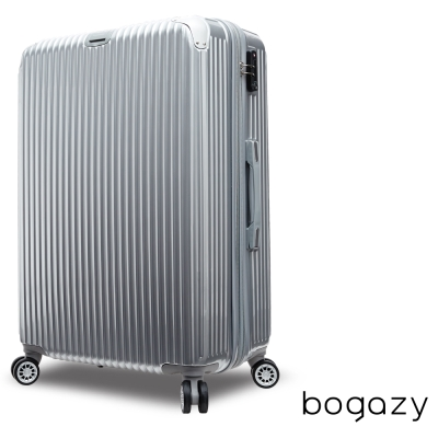 Bogazy冰封行者 24吋PC可加大鏡面行李箱(銀)