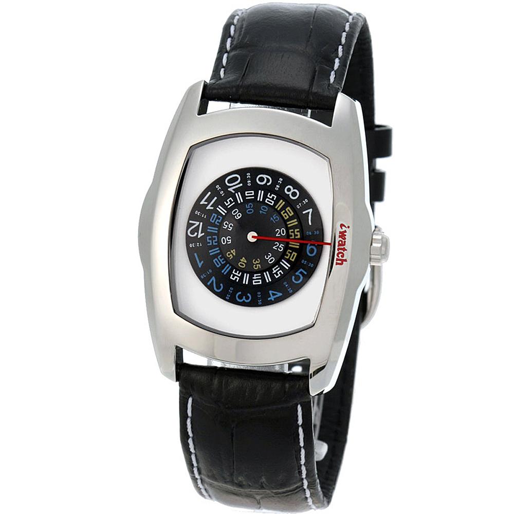 iwatch 型男索女正點個性磅秤錶-黑/43mm