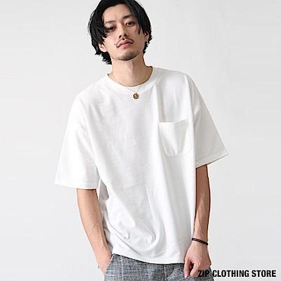 素面寬版短袖TEE(4色) ZIP日本男裝
