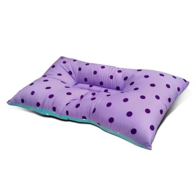 精靈工廠 MIT人體工學天絲雙色點點蝶型護頸枕/三色任選 紫色+淺藍