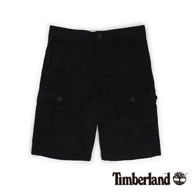 Timberland-男款黑色多口袋休閒短褲