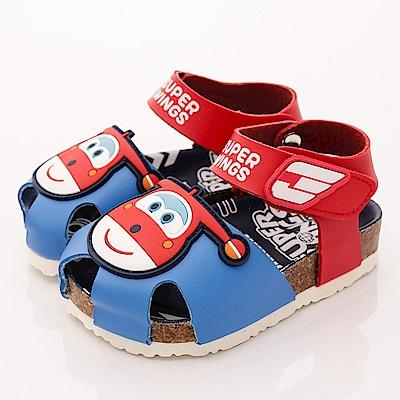 SUPER WINGS 護趾涼鞋款 EI3807 紅 (中小童段)