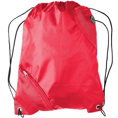 VOYAGER 前雙網層束口後背袋(紅)