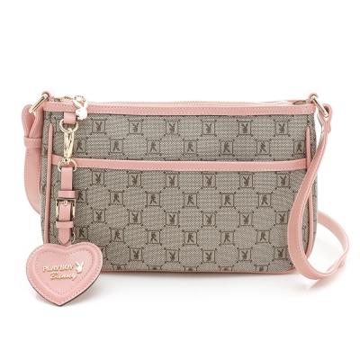 PLAYBOY-Spring-Romance-粉色浪漫系列斜背包-粉紅色