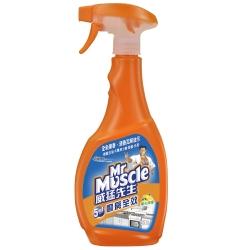 威猛先生 廚房全效清潔劑500g噴槍瓶-陽光檸檬