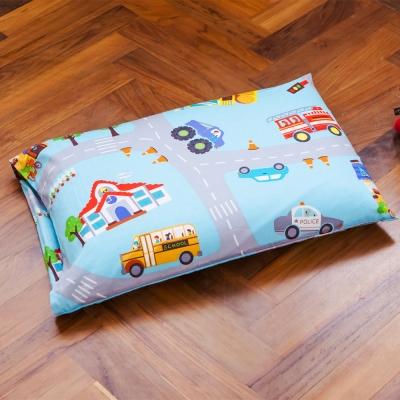 鴻宇 美國棉 防蹣抗菌100%乳膠 交通樂園-兒童標準乳膠枕