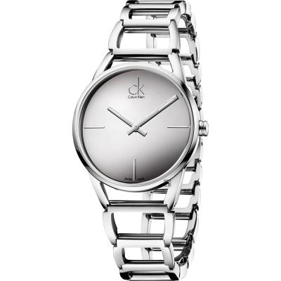 Calvin Klein CK Stately 時尚鏤空手環腕錶-33mm