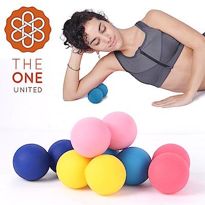 【The One】天然矽膠花生筋膜球/瑜珈按摩球(顏色隨機出貨)