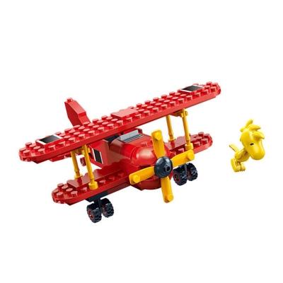 任選 BanBao邦寶積木 史努比系列 Peanuts Snoopy 紅男爵戰機 7523