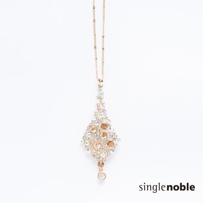 獨身貴族 點點繁星水鑽交織垂墜感菱形項鍊(1色)