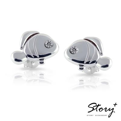 STORY ACCESSORY-【他看她的第2眼】安希幸福小丑魚-純銀耳環