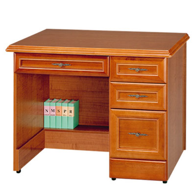 《Homelike》樟木3.5尺附抽書桌