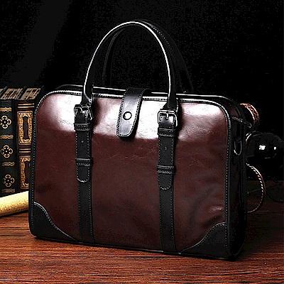 美國熊 專櫃質感 可側背 商務包 筆電包 手提包