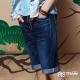 BIG TRAIN 經典丹寧短褲-男-深藍 product thumbnail 1