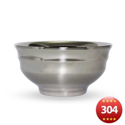 露營304不鏽鋼雙輕量層隔熱碗-12cm