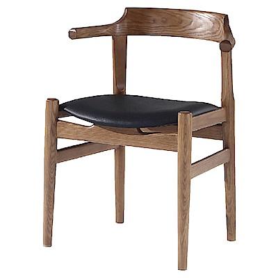 AS-奧德里奇胡桃色餐椅-45x43x74cm