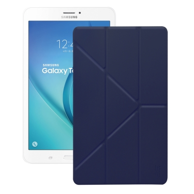 XM 三星 Galaxy Tab E 8.0 T377 清新簡約超薄Y折皮套
