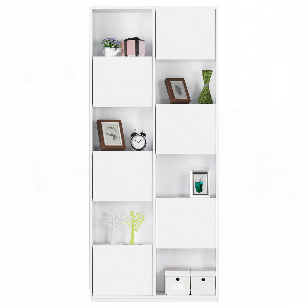 AT HOME - 布拉格2.7尺白色六單門書櫃–左 80x30x185cm