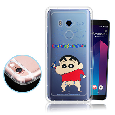 蠟筆小新正版授權 HTC U11+ / U11 Plus 透明彩繪空壓保護殼(大...