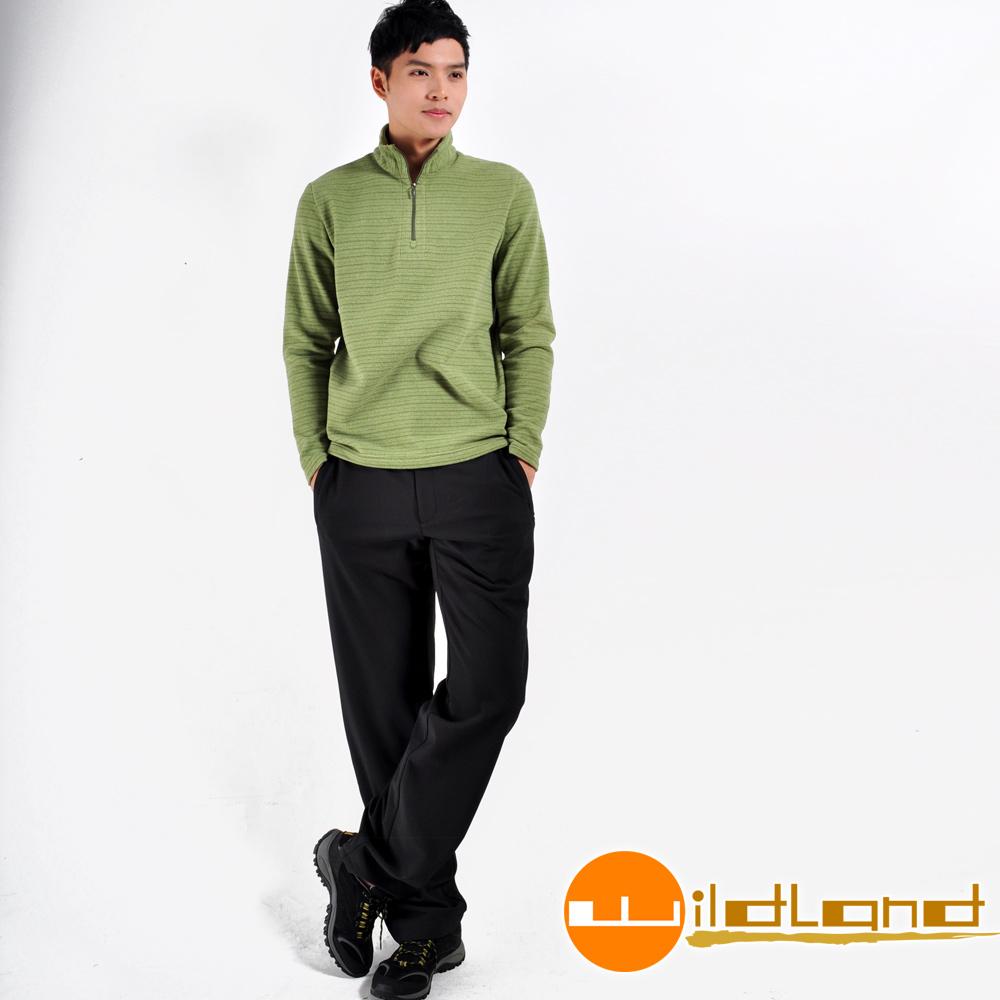 Wildland荒野 W2310-54黑色  男 Softshell彈性纖維保暖長褲
