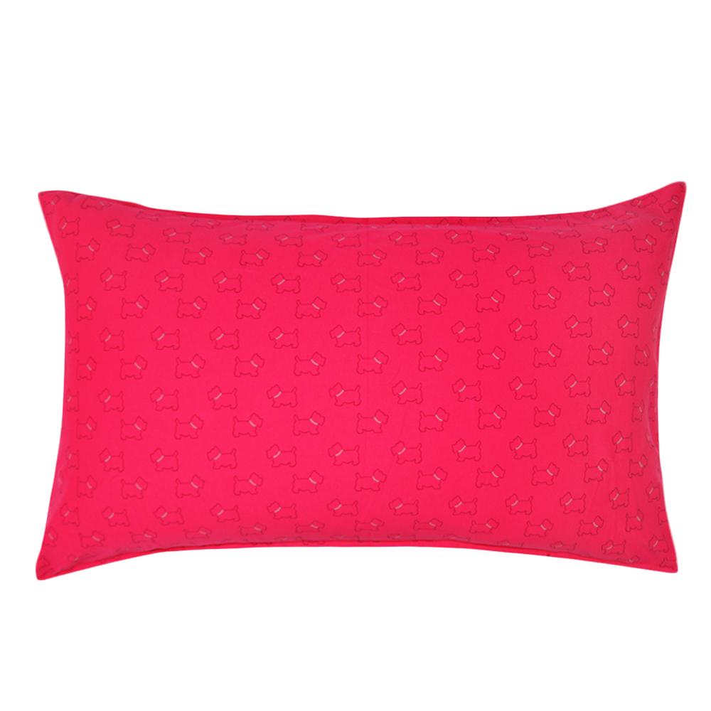 Yvonne Collection狗狗印花枕套-莓紅