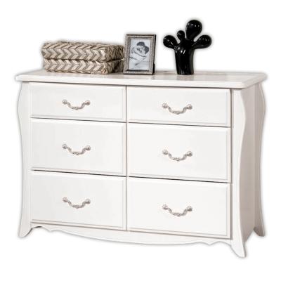 愛比家具 拉朵仙白色3.5尺六斗櫃