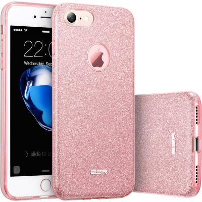 ESR億色-iPhone-7手機殼-彩妝閃亮輕薄款手機套-彩妝系列-玫瑰金