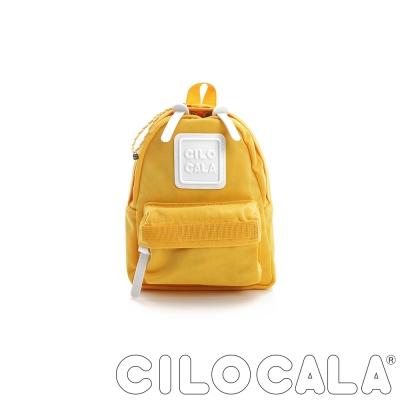 CILOCALA 亮彩尼龍防潑水後背包 黃色(迷你)