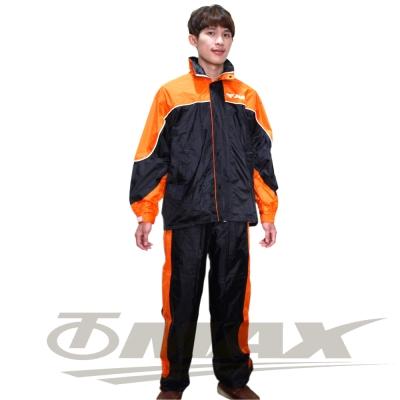 JUMP新TV2套裝雨衣-黑橘