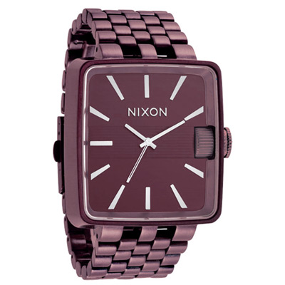 NIXON THE SULTAN 簡約方款時尚腕錶-咖啡/42mm