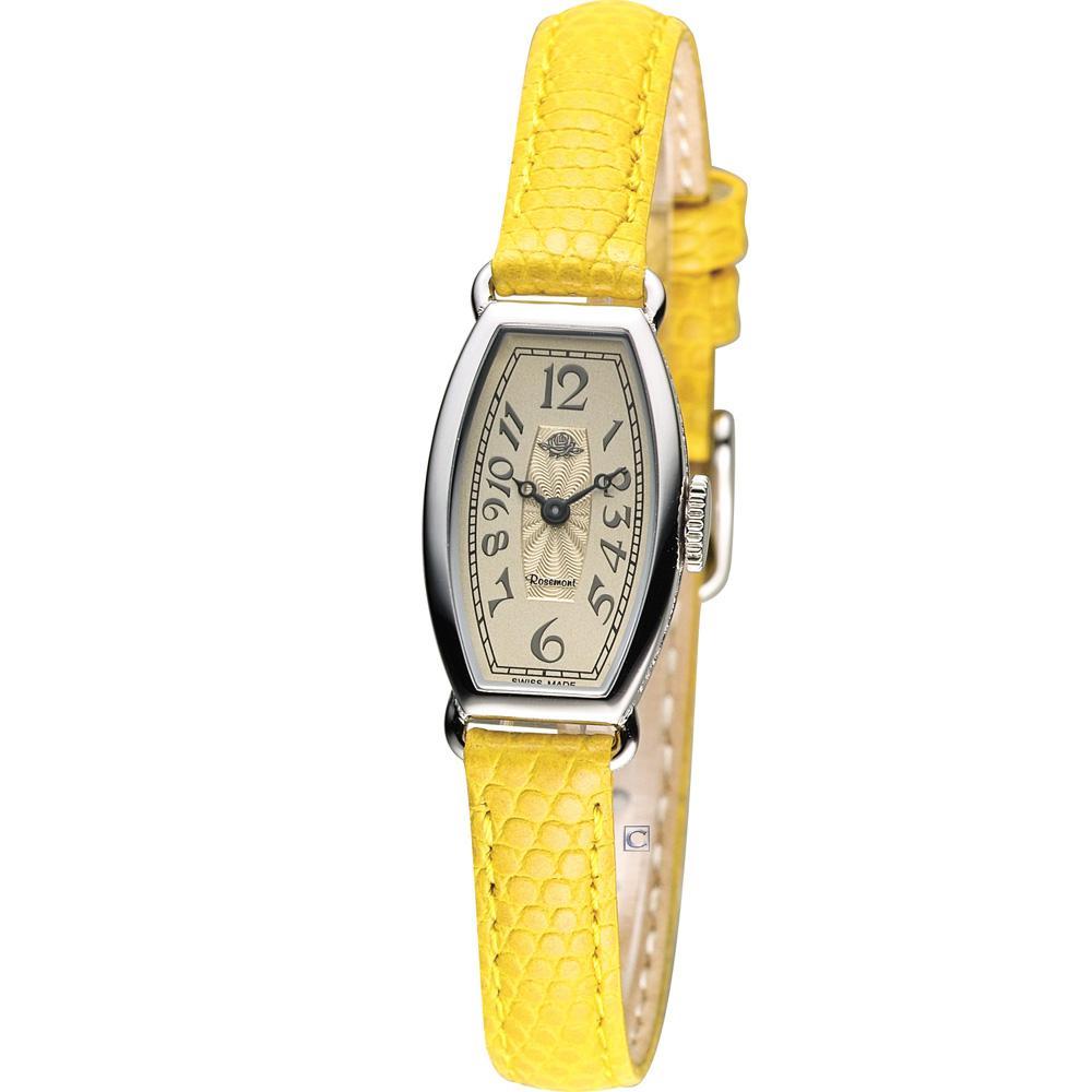 Rosemont 玫瑰皇后時尚錶-黃/15x24mm