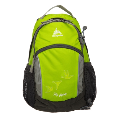 ONE POLAR 原野蜂窩透氣後背包-蘋果綠 PL01653LG