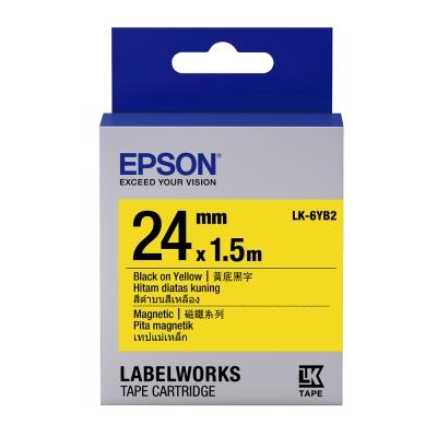 EPSON C53S656411 LK-6YB2磁鐵系列黃底黑字標籤帶(寬度24mm)