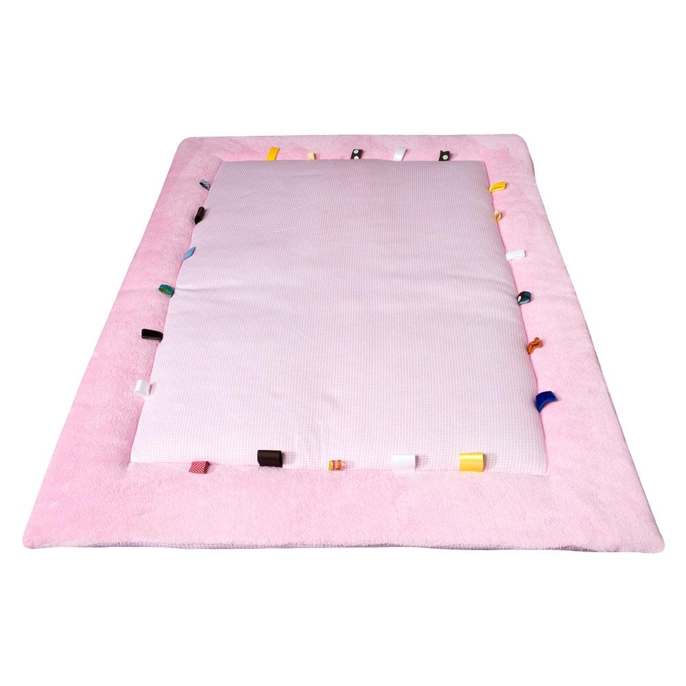 荷蘭Snoozebaby布標遊戲床墊-寶貝紅-單一尺寸