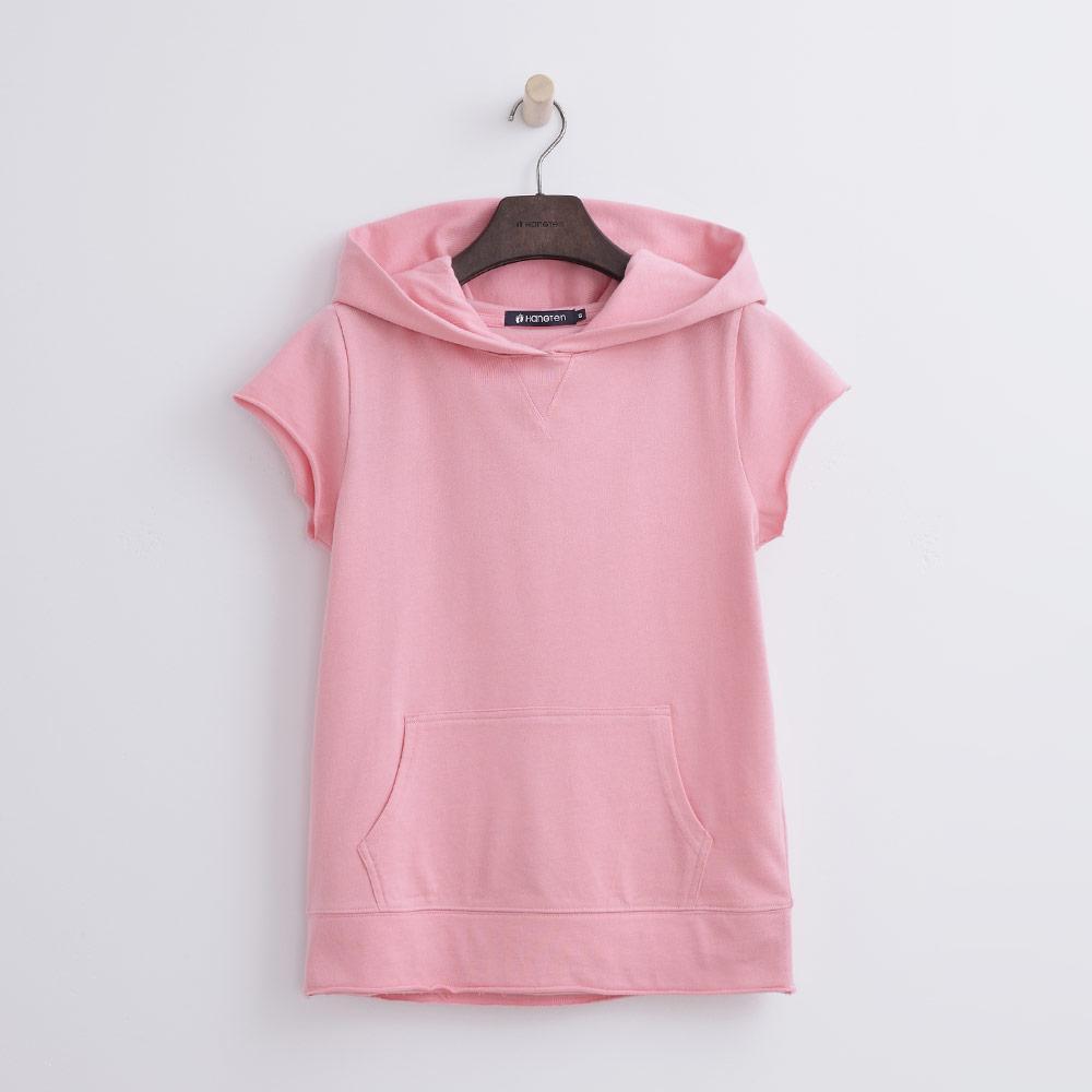 Hang Ten - 女裝 - 純色連帽運動衫-粉紅色