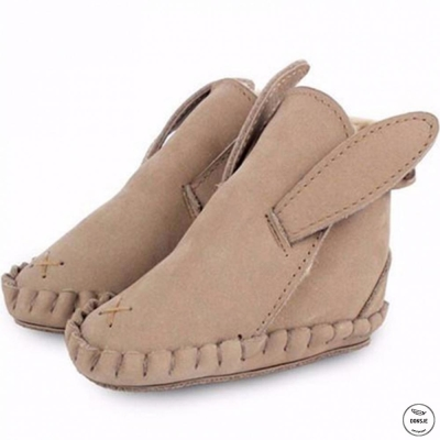 Donsje 荷蘭 卡奇小兔款動物造型內刷毛蝴蝶結真皮寶寶靴子