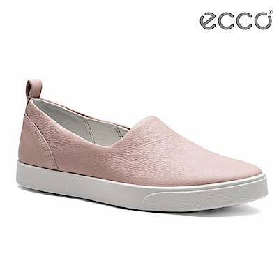 ECCO GILLIAN 女 質感時尚尖頭懶人鞋-粉
