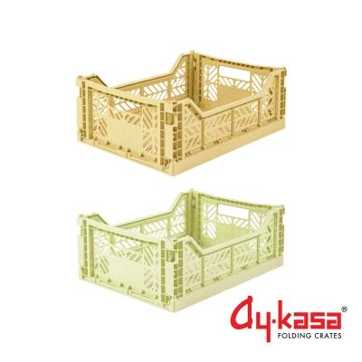 土耳其Ay-kasa M折疊收納箱2入組-香蕉抹茶