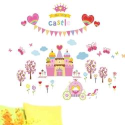 時尚壁貼 - 夢幻公主城堡