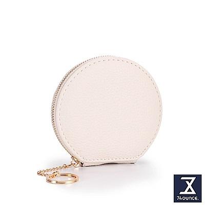 74盎司 多色馬卡龍圓形零錢包[LN-715]米白